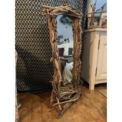 Miroir en bois flotté 60 cm...